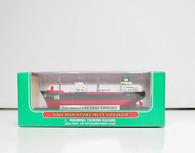 VNTG NIB 2002 Miniature Mini Hess Gas Voyager Container Ship Boat Scale Model US