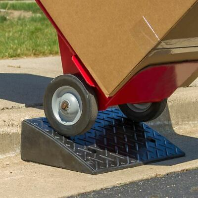 """5.25"""" 20 Ton Portable Industrial Warehouse Rubber Curb Dolly Ramp"""