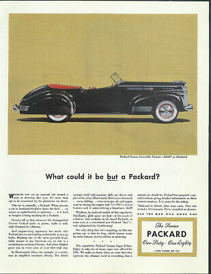 What could it be BUT a Packard Custom Convertible Victoria ad 1941 WHC