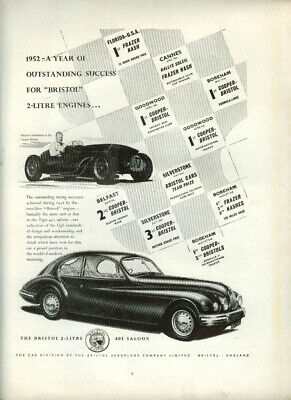 A Year of Outstanding Success for Bristol 2-Litre 401 Saloon ad 1952