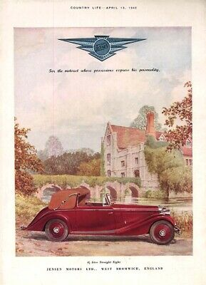 For the motorist whose possessions express personality Jensen Cabriolet ad 1945