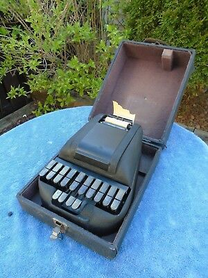 Vintage Antique STENOTYPE Stenograph Machine with Original Case 1933 Patent