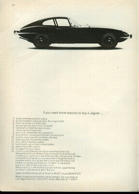 If you need more reasons to buy a Jaguar XK-E Coupe 2-16 ad 1966