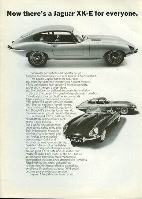 Now there's a Jaguar XK-E for everyone Roadster & 2+2 ad 1966
