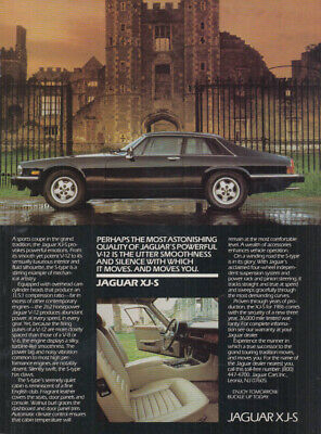 Utter smoothness and silence Jaguar XJ-S ad 1986 C&D