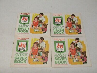 4 S&H Green Stamp Books And 1,000 Unused Stamps