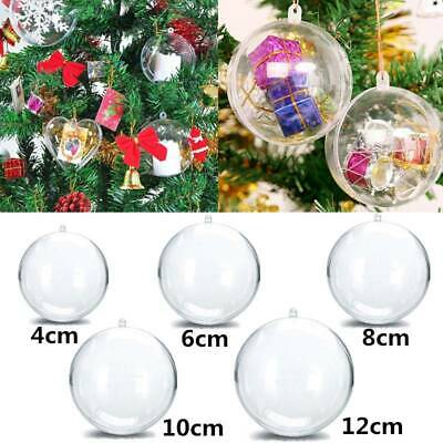 Details about  /10X Clear Plastic Ball Baubles Sphere Wedding Christmas Tree Ornament Xmas Deco