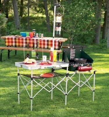 Coleman Portable Set Camping Cooking Pack Away Deluxe Outdoor Kitchen Table New 179 99 Picclick
