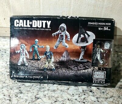 54 Pcs New Mega Bloks Call of Duty Zombies Moon Mob Building Toy Ages 10