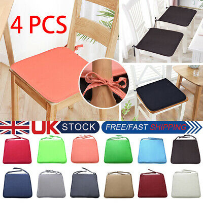 4 8x Tie On Chair Cushion Seat Pad Dining Room Kitchen Office Soft Patio Pillow 5 84 Picclick Uk