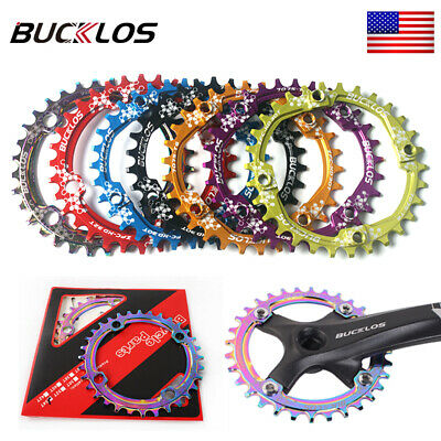30-52T 104BCD MTB Mountain Bike Chainring Round Oval Narrow Wide Chain Ring Bolt