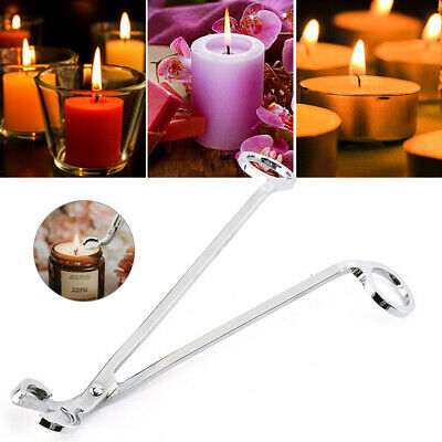 Candle Wick Trimmer Stainless Steel Wick Clipper Cutter Scissors UK