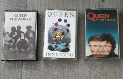 Queen 3 x Cassettes Miracle, Innuendo, The Works
