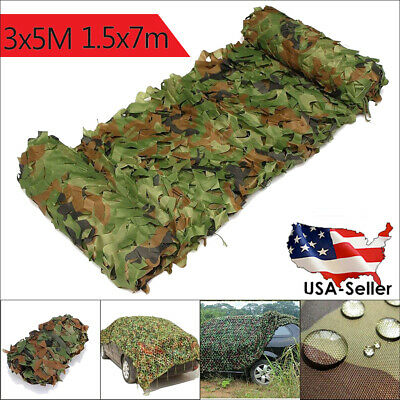 Woodland Desert Leaves Camouflage Camo Army Net Netting Camping Military Hunt Q
