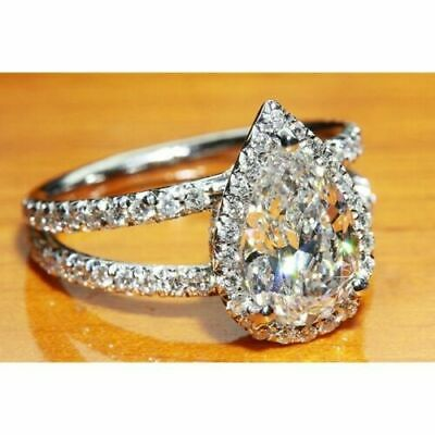 Edwardian Era Inspired 925 Sterling Silver 3.30ct TW CZ Engagement Ring Size 7