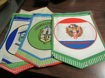 Guatemala Boy Scout Pennants 14 different  HH