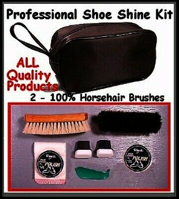 Quality!  New ~ For LEATHER SHOES ~  Shoe SHINE KIT for Home and Office