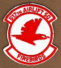 517th AIRLIFT SQUADRON - USAF PATCH with VELCRO BACK