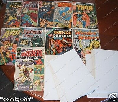 BULK PURCHASE OF 1000 x COMIC BACKING BOARDS. SILVER AGE SIZE (SIZE C)