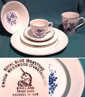 WEDGWOOD ENOCH IRONSTONE, Royal Blue REPLACEMENT PIECES