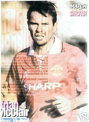 Brian McClair Man. United signed picture, FREEPOST