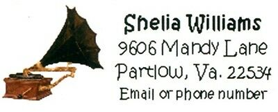 Old Phonograph Music Address Labels