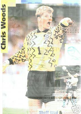 Chris Woods Sheffield Wednesday signed picture,FREEPOST