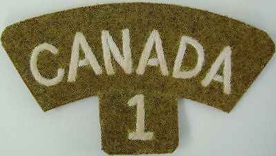 1st Western Ontario Shoulder Title White on Khaki