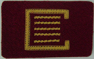 5th Division Officer Gold on Maroon Shoulder Flash