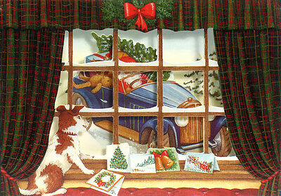 36 Pop-up Three Dimensional Blank Christmas Cards by Courtier XC0034