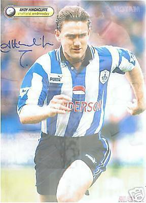 Andy Hinchcliffe Sheffield Wed. signed picture,FREEPOST
