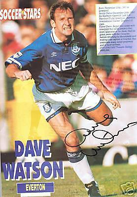 Dave Watson Everton signed picture, FREEPOST