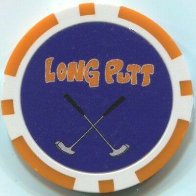 3 LONG PUTT Golf logo poker chips samples Style #136