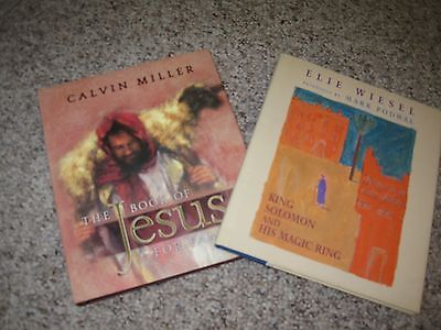 2 New Child Bible Story Books  - Jesus for Families, Solomon, King Solomon and h