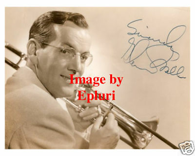 Glenn Miller Signed Preprint 8x10 Sepia Publicity Photo
