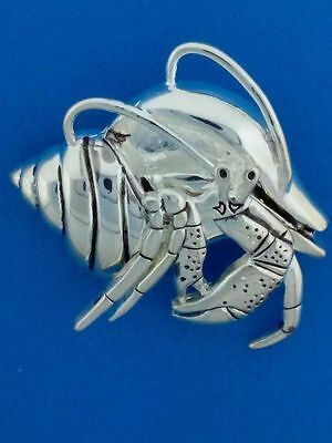 High Polished Moveable Land Hermit Crab Pin Pendant New
