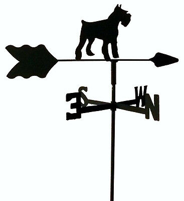 Schnauzer Garden Style Weathervane Black Wrought Iron Look Made In Usa Tls1035In