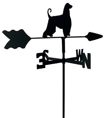 Afghan Hound Garden Style Weathervane Wrought Iron Look Made In Usa Tls1001In