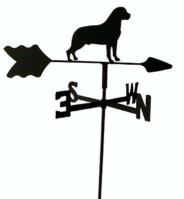 Rottweiler Garden Style Weathervane Wrought Iron Look Made In Usa Tls1044In