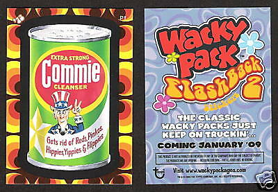 2008/9 Wacky Packages FLASHBACK 2 P1 PROMO Card COMMIE