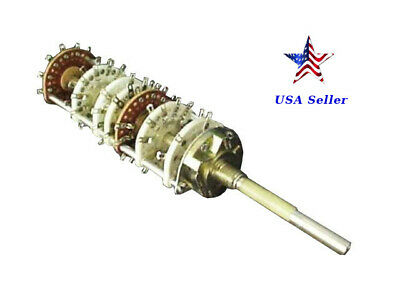 Unidex 3100-1T19-8717, 249, 7 wafer 10POS rotary switch
