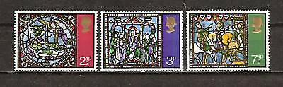 Great Britain # 661-3 Christmas Stained Glass Windows