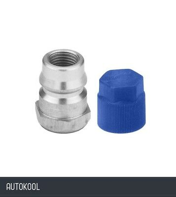 """R12 to R134a Retrofit Conversion Straight Low Side Adapter 1/4"""" x 13mm 82274"""
