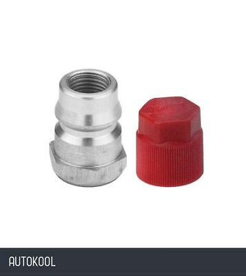 """R12 to R134a Retrofit Conversion Straight High Side Adapter 1/4"""" x 16mm 82332"""