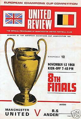 European Cup Manchester United 13.11.1968, FREEUKPOST
