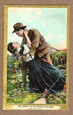 In The Power Of The Enemy - Ww1 Sweetheart Postcard