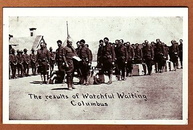 Results Of Watchful Waiting, Columbus - Ww1 Postcard