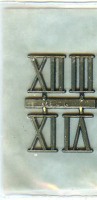 """3/4"""" Tall Roman Numerals 3,6,9,12 For Use On Clocks"""