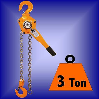 3 Ton LEVER HOIST BLOCK ratchet winch pull lift 3ton 3t