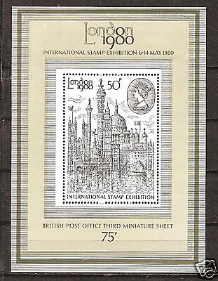 GREAT BRITAIN # 909a STAMP COLLECTING LONDON 1980 Souvenir Sheet
